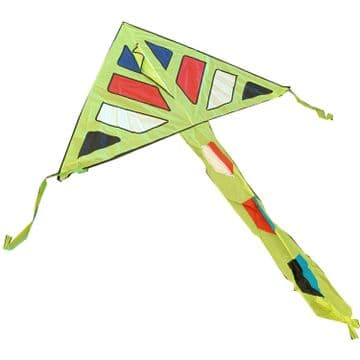 YELLOW WIDE WINGSPAN KITE with LINE and HANDLE childrens flying toy kid children